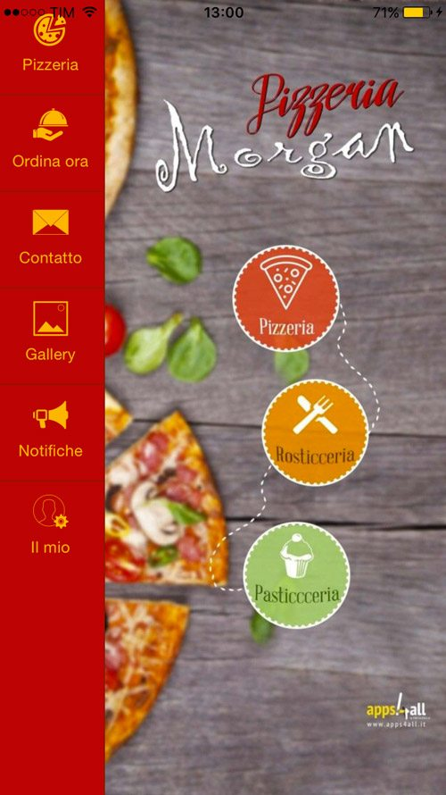 App Pizzeria Morgan
