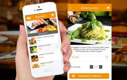 Il Menù nella App per Ristorante