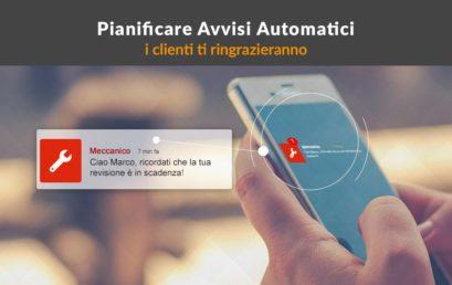 Pianificare avvisi automatici con la App