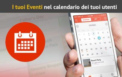Calendario eventi nella App