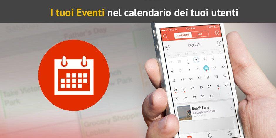 Calendario Eventi.Inserire Il Calendario Eventi Nella App Con Apps4all
