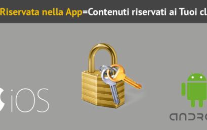 5 consigli per utilizzare una area riservata nella App