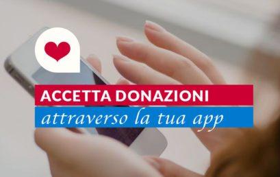 Come ricevere donazioni tramite la App (modulo donazioni)