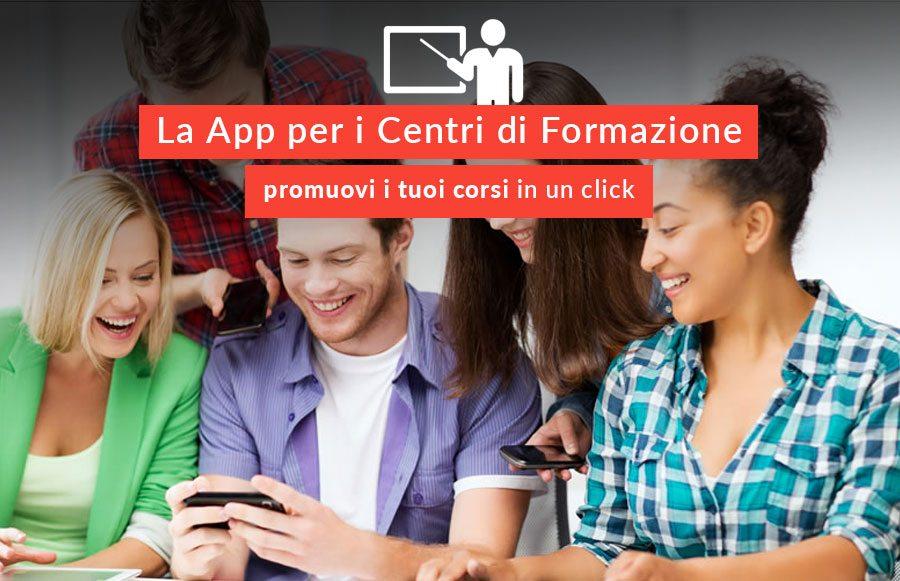 La App per i centri di formazione per la promozione dei corsi